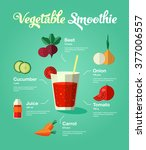 healthy natural food vegetable... | Shutterstock .eps vector #377006557
