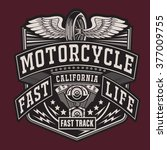 motorcycle typography  t shirt... | Shutterstock .eps vector #377009755