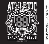 athletic sport typography  t... | Shutterstock .eps vector #377009794