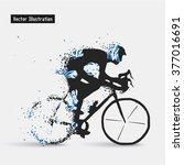 cyclists. vector eps10... | Shutterstock .eps vector #377016691