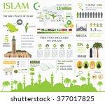 islam infographic. muslim... | Shutterstock .eps vector #377017825