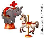 Circus Elephant And Rocking...
