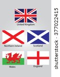 the flags of british northern... | Shutterstock .eps vector #377022415