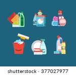 detergents for cleaning home or ...   Shutterstock .eps vector #377027977