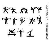 stick the sport | Shutterstock .eps vector #377028244