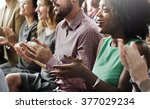 audience applaud clapping... | Shutterstock . vector #377029234