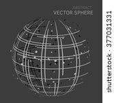 vector dots sphere abstract... | Shutterstock .eps vector #377031331