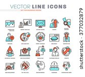 thin line icons set. business... | Shutterstock .eps vector #377032879