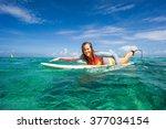 beautiful young blonde woman in ... | Shutterstock . vector #377034154