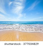 beach and tropical sea | Shutterstock . vector #377034829