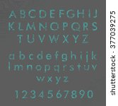 english alphabet and digits in... | Shutterstock .eps vector #377039275