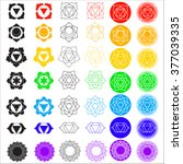 big vector symbol set of... | Shutterstock .eps vector #377039335