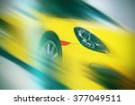sport car in the motion with...   Shutterstock . vector #377049511