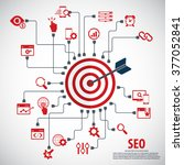 infographics background seo... | Shutterstock .eps vector #377052841