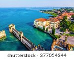 view of the italian town of... | Shutterstock . vector #377054344