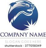 badger logo soccer sport modern ... | Shutterstock .eps vector #377058349