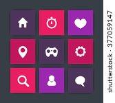 basic web square icons ...
