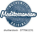 authentic mediterranean cuisine ... | Shutterstock .eps vector #377061151