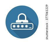 password protection icon. flat...