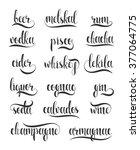 set names of species alcohol in ... | Shutterstock . vector #377064775