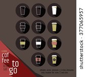 take away coffee sign icon set. ... | Shutterstock .eps vector #377065957