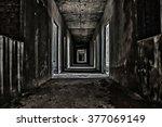 scary hallway walkway in... | Shutterstock . vector #377069149