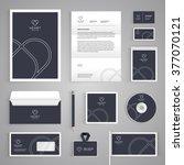 corporate identity branding... | Shutterstock .eps vector #377070121