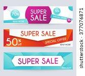 set of sale banners design ... | Shutterstock .eps vector #377076871