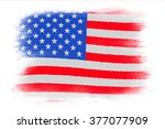 the usa flag   painted grunge... | Shutterstock . vector #377077909