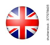 the british flag. round matte... | Shutterstock . vector #377078605
