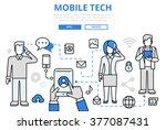 mobile tech communication epoch ... | Shutterstock .eps vector #377087431