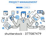 project management business... | Shutterstock .eps vector #377087479