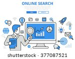 online search results promotion ... | Shutterstock .eps vector #377087521