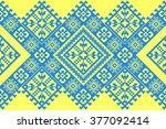 embroidered good like old... | Shutterstock .eps vector #377092414