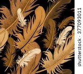 seamless pattern of bird... | Shutterstock .eps vector #377093011