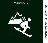 skier vector illustration | Shutterstock .eps vector #377094205