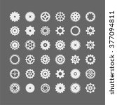 abstract icon set of machine... | Shutterstock .eps vector #377094811