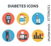 vector diabetes infographic... | Shutterstock .eps vector #377096311