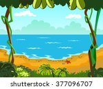 vector background of the sea ... | Shutterstock .eps vector #377096707