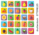 fruit icons | Shutterstock .eps vector #377098135