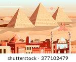 vector illustration of pyramid... | Shutterstock .eps vector #377102479