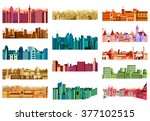 vector illustration of building ... | Shutterstock .eps vector #377102515