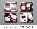 set of brochure  poster design... | Shutterstock .eps vector #377106517