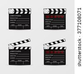 movie clapperboard set isolated ... | Shutterstock .eps vector #377108071