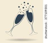 vector illustrations glasses of ... | Shutterstock .eps vector #377109301