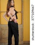 beautiful young fashion model... | Shutterstock . vector #377109667