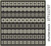 vintage border set for design    Shutterstock .eps vector #377111737