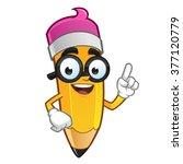 mascot illustration of a pencil ... | Shutterstock .eps vector #377120779