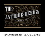 antique frame label western... | Shutterstock .eps vector #377121751