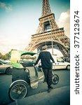 paris  france  october   9 ... | Shutterstock . vector #377123674